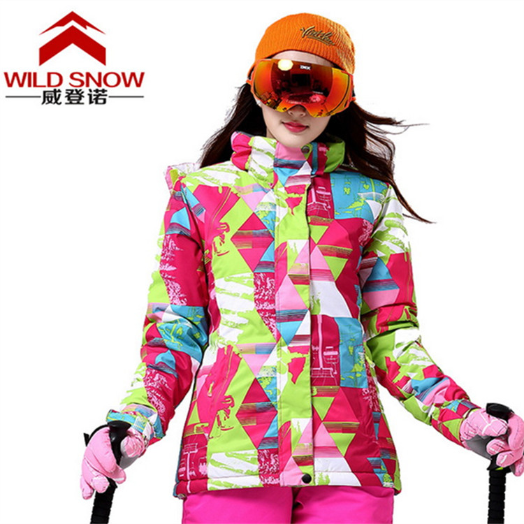 WINTER WOMEN Snowboard Jacket Waterproof Windproof Warm Breathable Printing Outdoor Jacket Riding Camping Climbing Hiking Jacket yin qi shi man winter outdoor shoes hiking camping trip high top hiking boots cow leather durable female plush warm outdoor boot