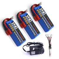 VHO 3pcs Syma 7 4V 2000mah Lipoly Battery UL Charger Spare Part For X8 X8A X8C