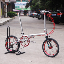 Fnhon CR-MO Steel Folding Bike 16″  Minivelo Mini velo Bike Urban Commuter Bicycle V Brake 9 Speed Upgrade 3500 Sora