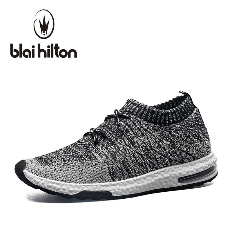 Blaibilton 2018 на лето и весну Для мужчин повседневная обувь Обувь с дышащей сеткой Slip-On мужской моды обувь для ходьбы унисекс пары Спортивная обувь