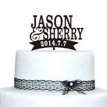 Wedding Cake Topper Bride and Groom Name Personalized Wedding Cake Topper Custom Name Date Engagement Cake