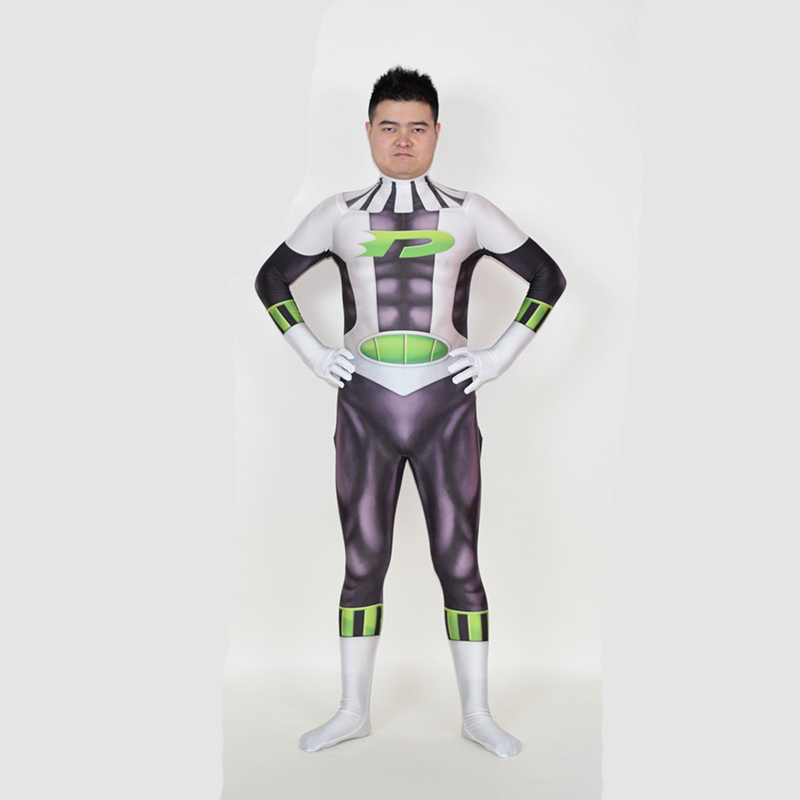 3D Printing Danny Phantom Costume Spandex Jumpsuit Suit Phantom Cosplay Costume Men Party Carnival Zentai Catsuit