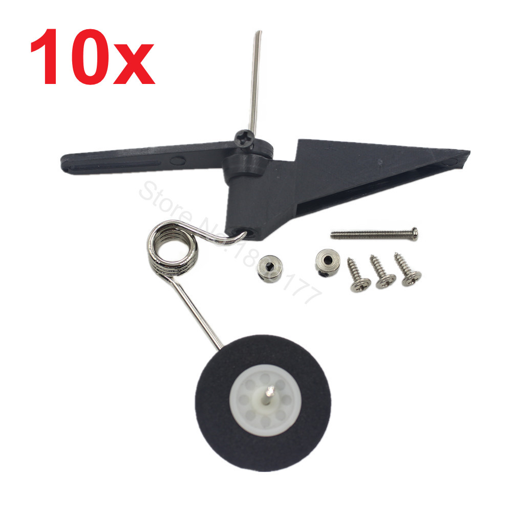 10Set/lot Replace Tail Wheel Assembly 60x25mm D28/30 Aeromodelling RC Plane Parts Fit 540T Flymodel 25 metal milling press quill feed return coil spring assembly 48 x 25mm max d t