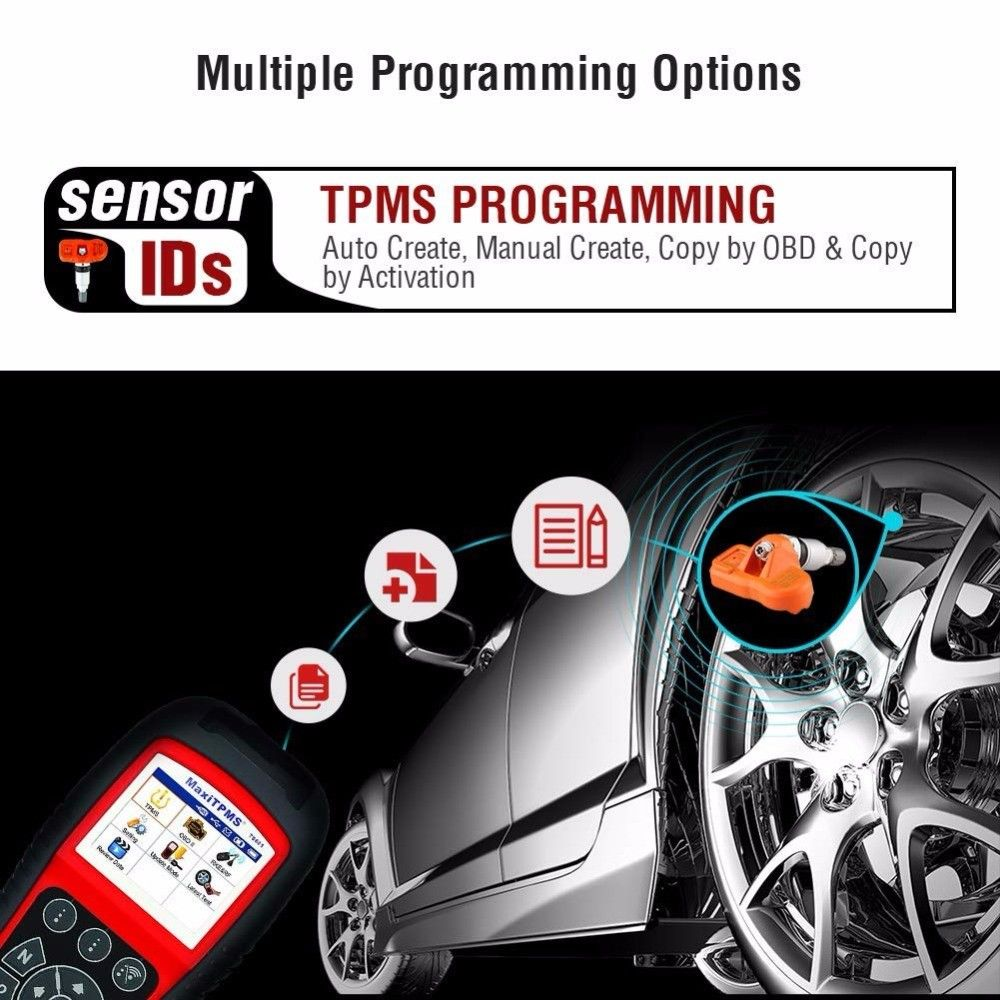 Image 3 - Autel MaxiTPMS TS601 OBDII Diagnostic Tool OBD2 Scanner TPMS Programmer Auto Code Reaser TPMS Monitor Tool 433MHz 315MHz Sensor-in Pressure & Vacuum Testers from Automobiles & Motorcycles