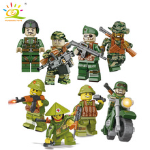 HUIQIBAO TOYS 8pcs / lot Special Force Soldier Military Action Figure Куклы SWAT Soldier Совместимые Legoed Army Kids Gifts Toys