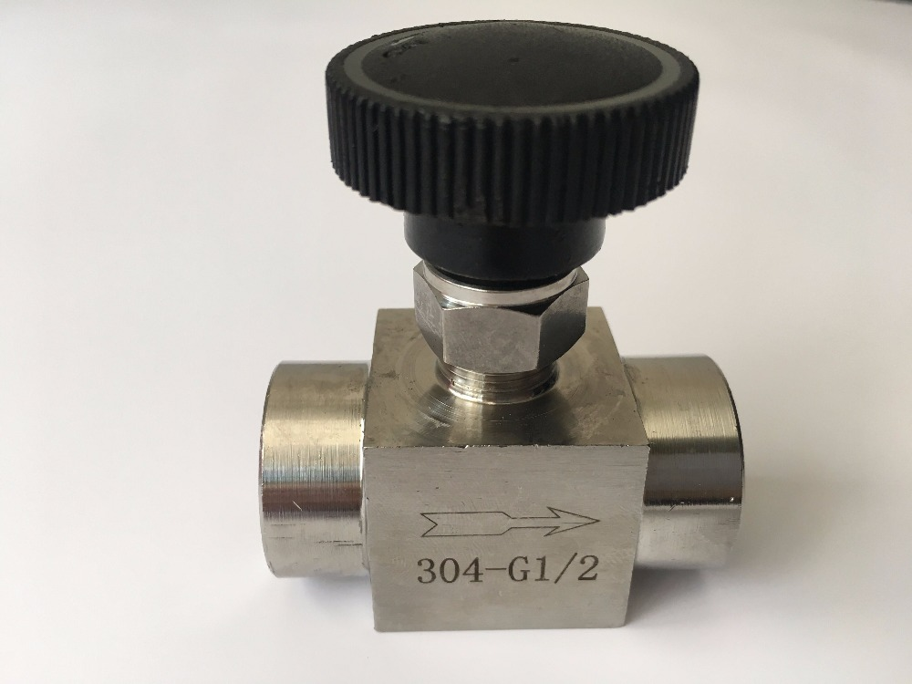 Freeshipping 1PCS BSP Equal female Thread 304 Stainless Steel Flow Control shut off valve Needle Valve 915 PSI Water Gas Oil