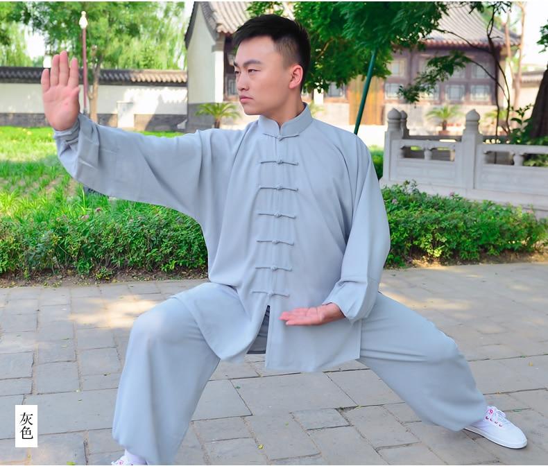 Тай-чи одежды хлопок и вискоза спортивная одежда Тайцзицюань практика Ушу одежда Кунг-Фу Одежда Кунг-Фу Униформы
