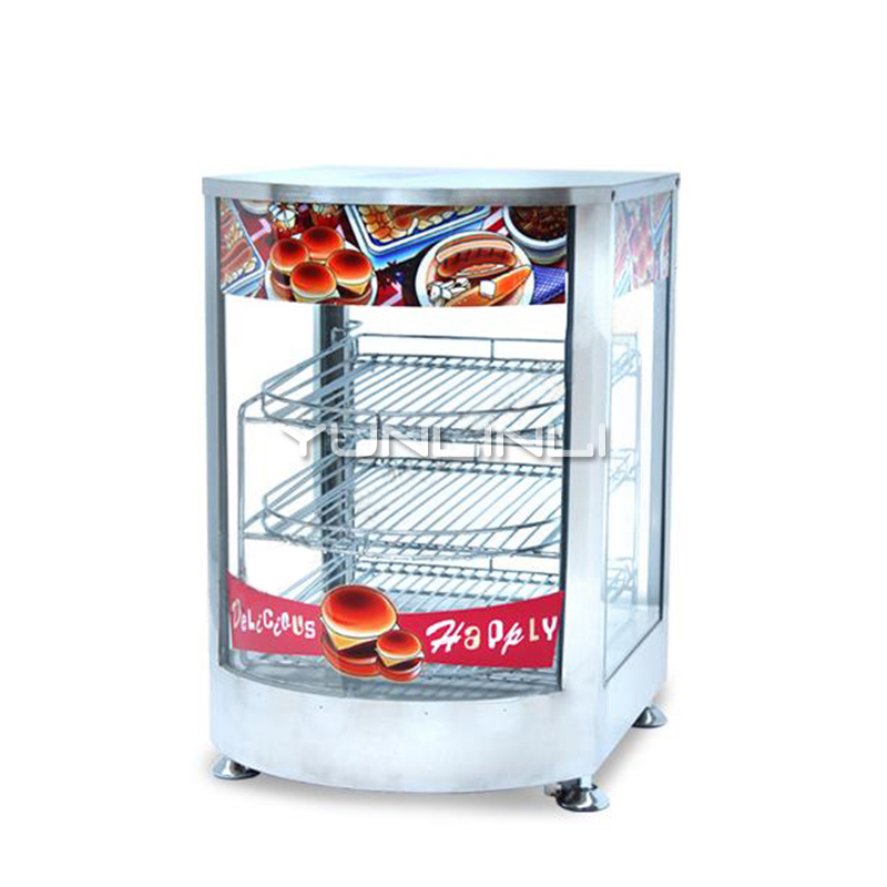 Commerciale e Alimentare Il Riscaldamento Vetrina Elettrico Cotto Conservazione di Calore cibo Caso Vetrina Cibo Elettrica NP 641 - 3