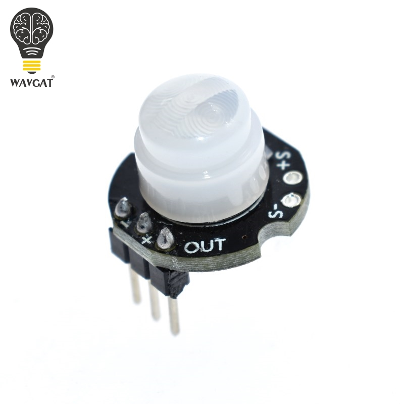 WAVGAT MINI Motion Sensor Detector Module <font><b>SR602</b></font> Pyroelectric Infrared PIR kit sensory switch Bracket for arduino Diy With lens image