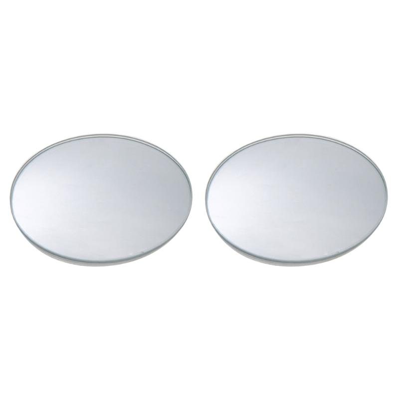2pcs/lot 360 Degree Adjustable Frameless Wide Angle Rear View Mirrors Round Convex Car Rearview Blind Spot Mirrors