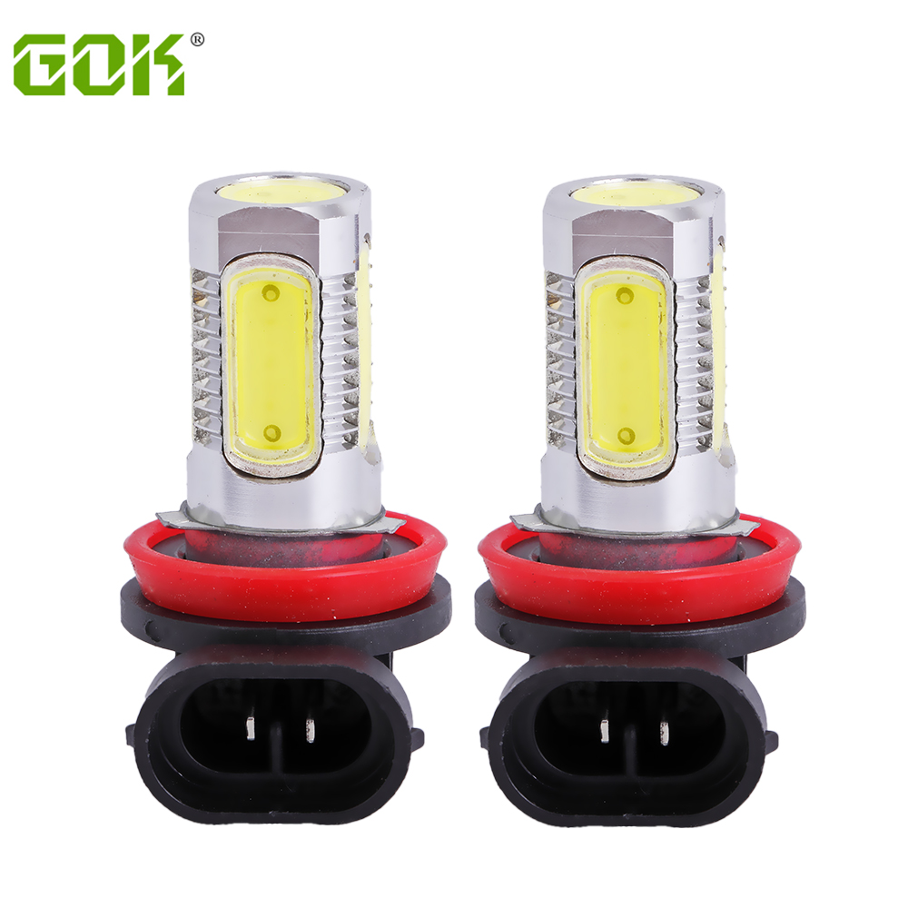 2pcs H11 LED High Power 7.5W Car LED headlight H11 H7 9005 9006 Fog Lamps Auto car led bulbs Car Light Source parking 6000K 9005 hb3 9006 hb4 7 5w high power cob led bulb car auto light source projector drl fog headlight lamp white yellow