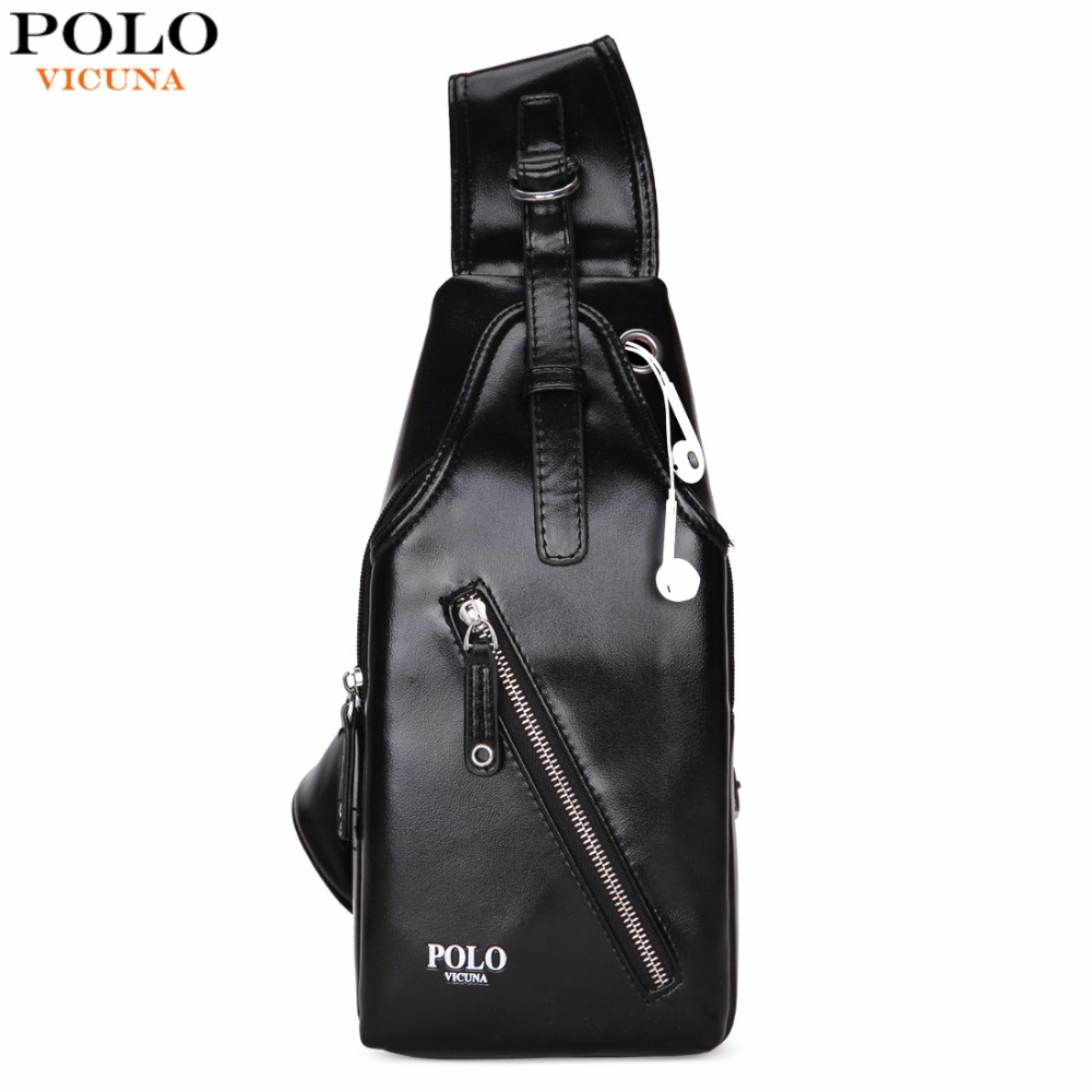 VICUNA POLO Fashion Leather Men Crossbody Bag Classic Simple Design Men Shoulder Bags Brand Man Messenger Bags Sling bag New vicuna polo new arrival brand business men s shoulder bag square design casual men bag promotion leisure messenger bag top sell