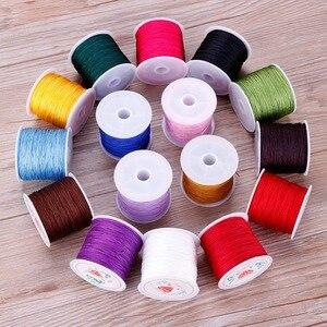 Image 2 - 0.8mm 45M/Roll Nylon Cord Thread Chinese Knot Macrame Rattail Bracelet Braided String #255733