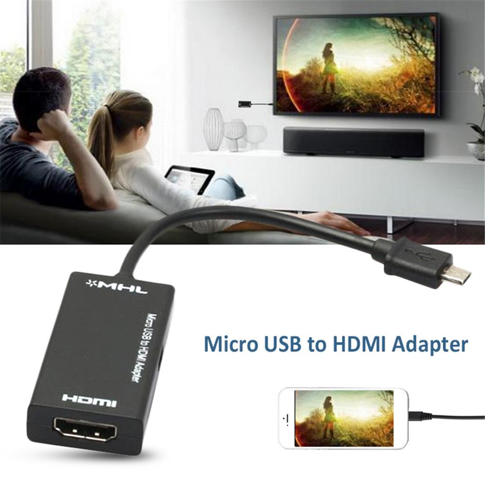 Image 2 - New Micro USB To HDMI TV Out HDTV MHL Adapter Cable Black Durable Adapter Cable For Phone Or Tablet Smart Devices Portable-in Data Cables from Consumer Electronics