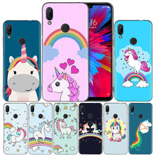 Unicorn On Rainbow Jetpack Silicone Case Cover for Xiaomi Mi 9 8 Play A1 A2 Redmi Note 7 6 6A 5 Plus S2 GO Lite Pro Pocophone F1(China)