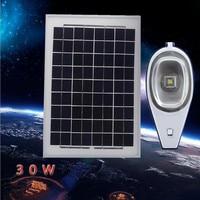 2016 Новый Панели солнечные 12 В 30 Вт уличном фонарном движения Сенсор свет Управление Интегрированного LED светильники на солнечных батареях О