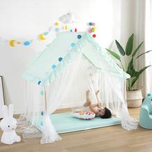 цена на Large Children Play House 100% Natural Cotton Canvas Lace Gauzy Indoor Outdoor Playhouse Kids Princess Girls Boys Toy Tent New