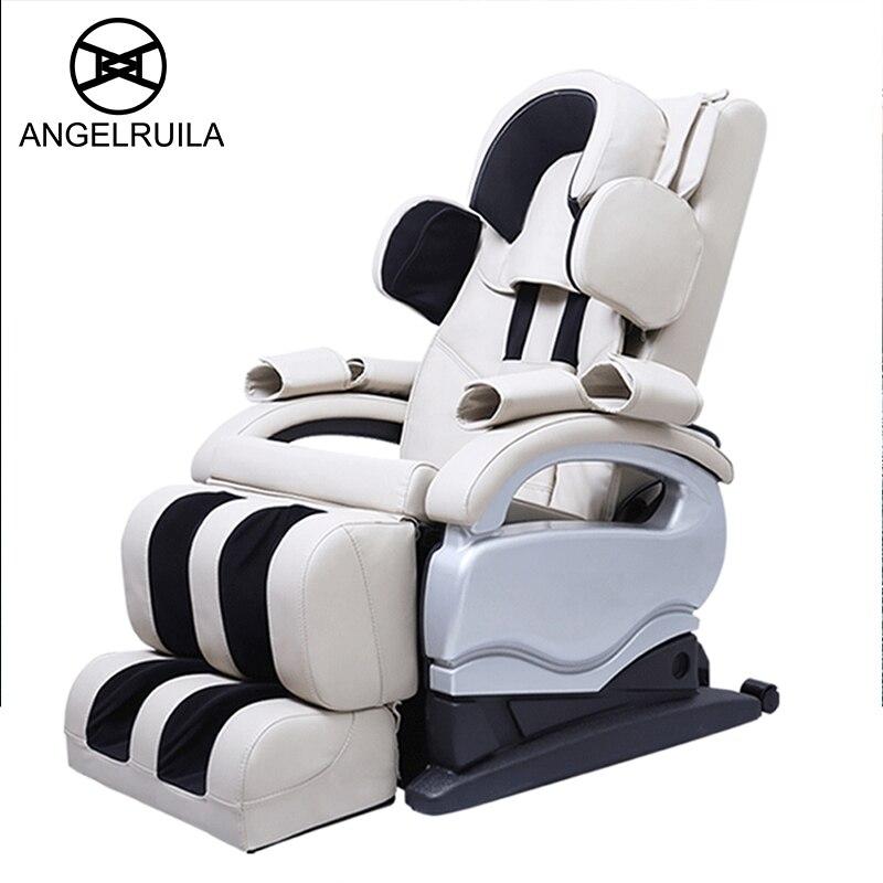 Angelruila ANG-C2 Full Body Zero Gravity Shiatsu Electric Massage Chair Recliner Pressure Infrared Heat Vibration Deep Tissue массажная накидка wellneo 3d full body shiatsu