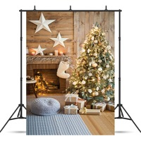 SJOLOON Christmas Photography Background Baby Photography Backdrop Christmas Tree Photograph Background Fond Studio Vinyl Props