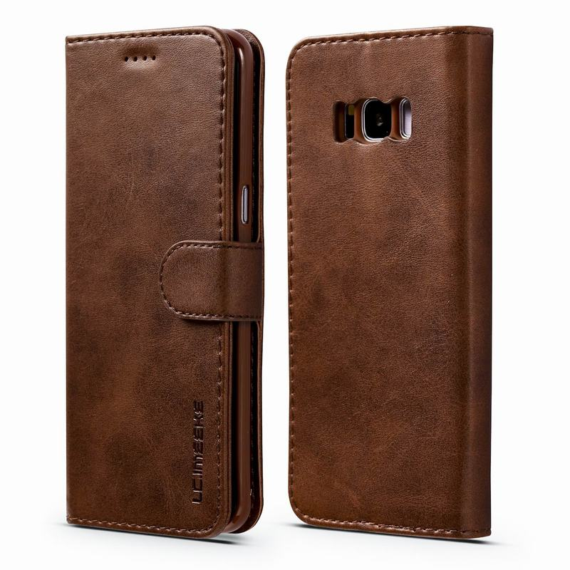 Book Case For Samsung Galaxy S8 Plus Case Flip Leather Wallet Cover Samsung S8 Plus Case Luxury Vintage Phone Cases Card Holder