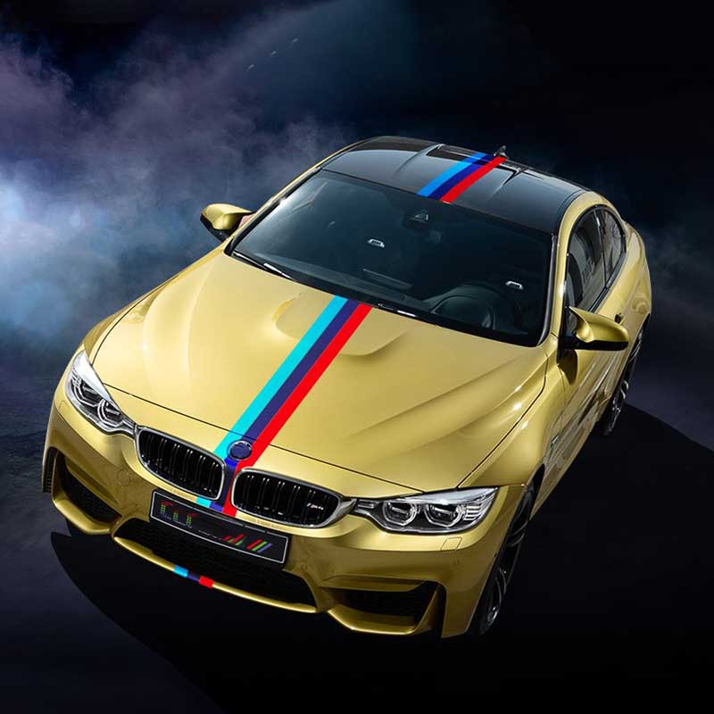 Hot Sale Pvc Auto Car Styling Front Grill Stripe Decal M Sport