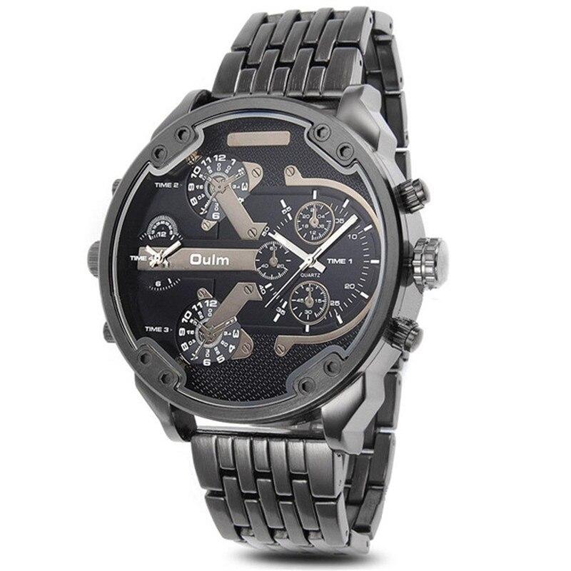 Luxury Delicate Men S Watch Military Army Dual Time Quartz Large Dial Wrist Fashion Watch Relogio