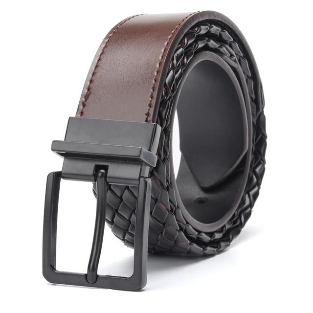 Cinturón Reversible Liso y Trenzado