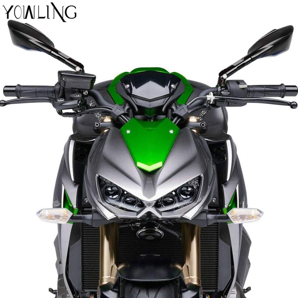 Aluminum CNC Motorcycle Rearview Side Mirror For Kawasaki Ninja 650R ER6F 400R Ninja300 Ninja250 z900 Z1000SX Motorcycle Parts in Side Mirrors Accessories from Automobiles Motorcycles