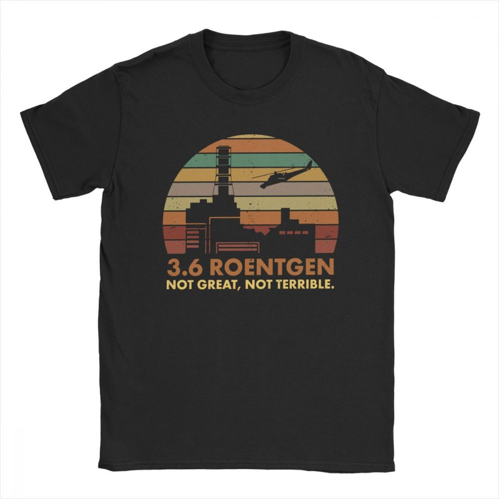 Chernobyl Nuclear Power Station Disaster Radiation 3 6 Roentgen T Shirt New Arrival Unique Design Quality Cotton t shirt in T Shirts from Men 39 s Clothing