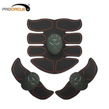 Vibration Fitness Massager Abdomen Trainer EMS Wireless Stimulator Battery Electronic Muscle Exerciser