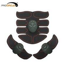 Vibration Fitness Massager Abdomen Trainer EMS Wireless Stimulator Battery Elect