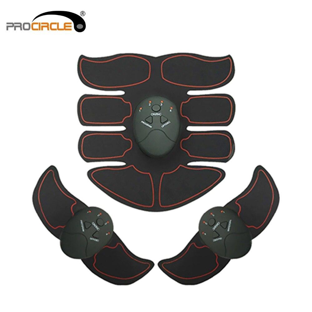 Ems sem Fio Vibração Fitness Massageador Abdômen Trainer Estimulador Bateria Eletrônico Exercitador Muscular
