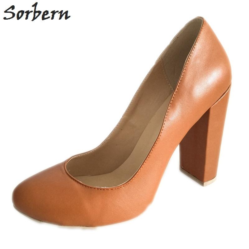 Sorbern Block Heel Shoes High Heels