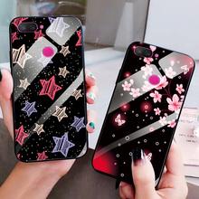 Tempered Glass Case For Xiaomi Mi 8 SE Cover Lite Soft Edge Phone Shell Pretty Flower