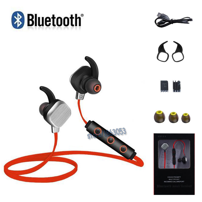 ФОТО HOT! Sweat-proof Magnetic Deep Bass Wireless Stereo Sport 4.1 Bluetooth Headphone Earphone Headset,Play music&calls 8 hours