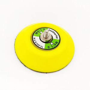 Image 2 - 3 인치 샌딩 패드 연마 디스크 연마 버핑 패드 후원자 플라스틱 후원자 패드 에어 샌더 자동차 폴리 셔