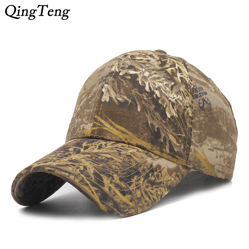 Dad Hats Baseball-Cap Camo-Caps Hunting Fishing for Men Army Outdoor
