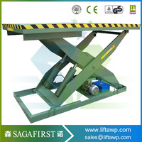 1t 2t 3t Electric Hydraulic Double Scissor Lifts with ISO