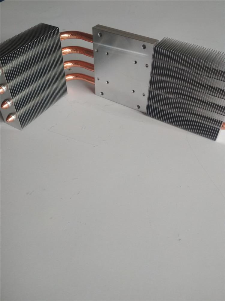 Diy L ボードユニバーサルプロジェクターハイパワー led ラジエーター装備二国間でファンと 4 ピース 8 ミリメートル熱焼結層  グループ上の パソコン & オフィス からの ファン & 冷却 の中 1