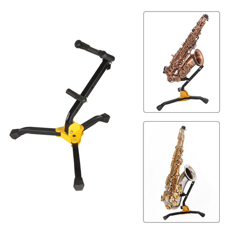 Foldable Tenor Saxophone Stand Alto Sax Metal Floor Stand Tripod Holder Woodwind Instrument Accessories