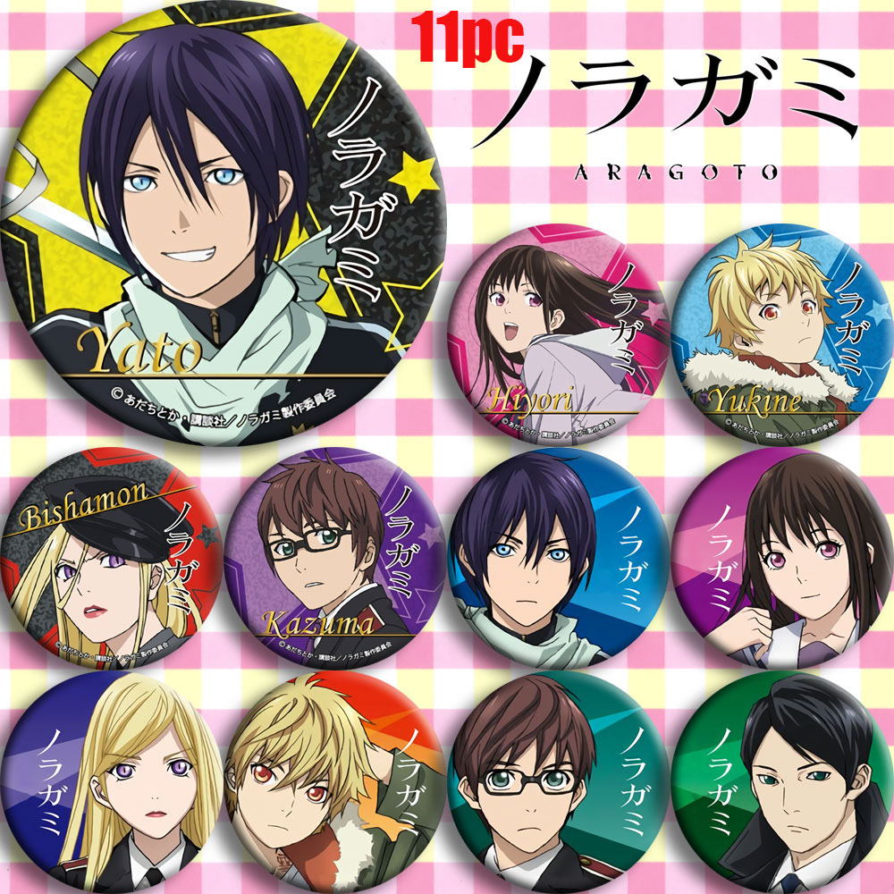 Japan Anime Noragami YATO Iki Hiyori Cosplay Prop Bedge Cartoon Girl Boy Collect Bags Badges For Backpack Button Brooch Pin