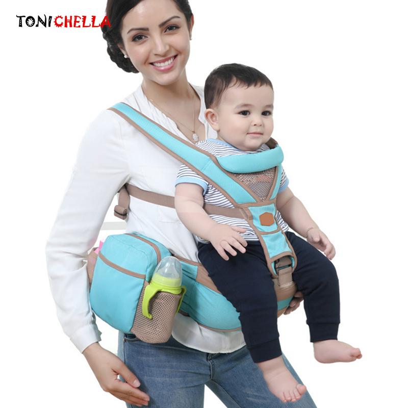 Multifunctional Baby Carrier Sling Breathable Comfortable Hipseat Ergonomic Design Backpack Infant Kids Wrap Kangaroo BB3021 multi function comfortable baby carrier sling red grey