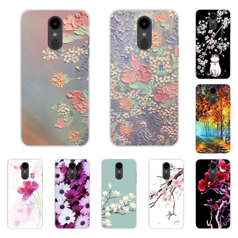 LG Aristo 2 Case,Silicon Full flower Painting Soft TPU