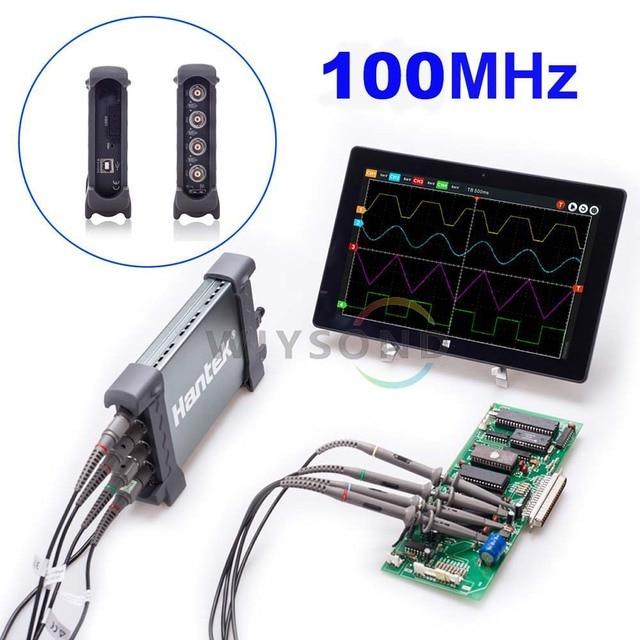 O087 6104BC 4 Channel 1GSa/s 100Mhz Bandwidth Hantek PC Based USB Digital Storage Oscilloscope Generator