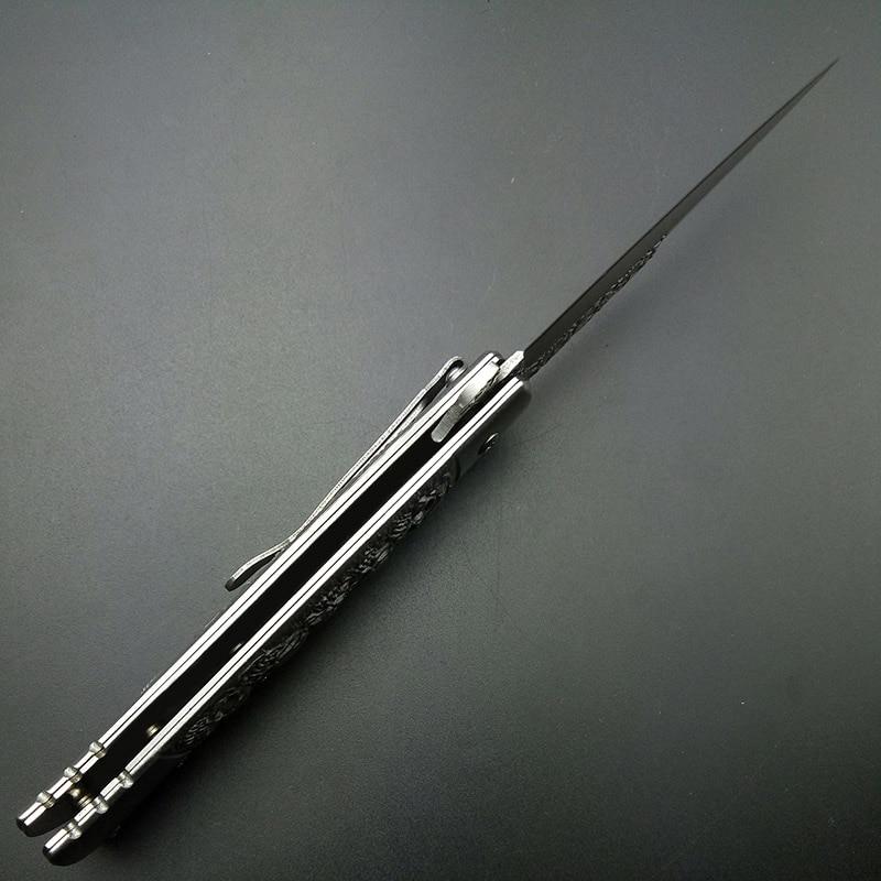 Skull Mirror Scrub Coltelli per attrezzi da salvataggio in titanio - Utensili manuali - Fotografia 5