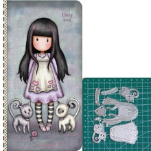 Leaning on cat new 2019metal cutting dies doll girls for scrapbooking and making paper cards
