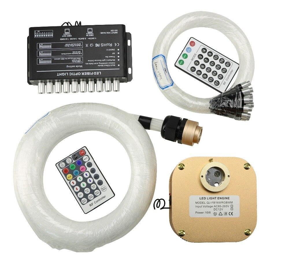 16W RGBW TWINKLE LED Fiber Optic Star Ceiling Light Kit 335pcs 430pcs 0 75 1 0