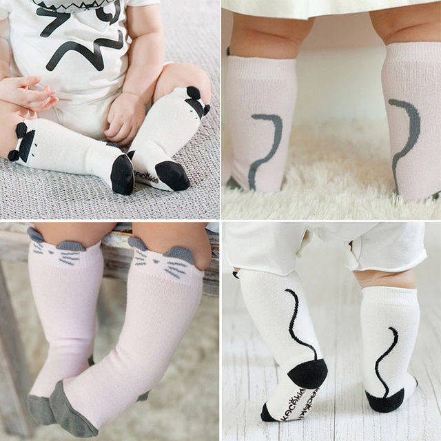 5370f08a78d Cute Baby Infant Toddler Children Kids Girls Cotton Knee High Socks  Leggings for 0-4Y Girl