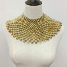 Upscale Brand Indian Jewelry Handmade Beaded Statement Necklaces For Women Collar Beads Choker Maxi Necklace Wedding Dress