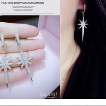 SALE 925 silver Europe Star word Crystal from Austrian new fashion creative cz W